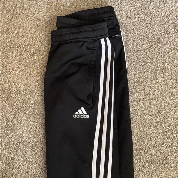 adidas pants half stripe